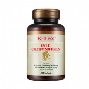 康力士(K_lex)维生素D钙康鹰牌液体钙软胶囊 牡蛎提取物200粒