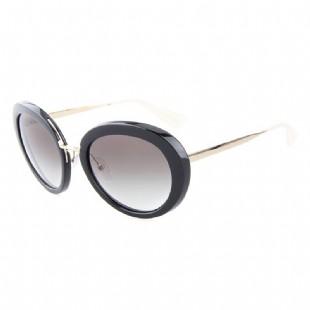 PRADA 普拉達 女款黑色鏡框茶色漸變鏡片眼鏡太陽鏡