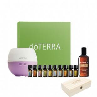 多特瑞(Doterra)家庭首購套裝居家常用精油10瓶5ml送椰子油木盒