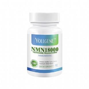 YOLLGENE美國進口NMN18000β煙酰胺單核苷酸NAD+補充劑60粒/瓶