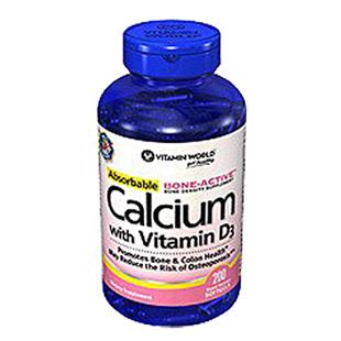 维他命世界(Vitamin_World)液体钙+D胶囊【美国原装进口版】200粒