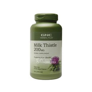 健安喜(GNC)奶薊提取物復合膠囊200mg*200粒