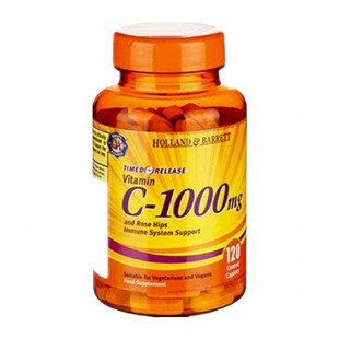 英國荷柏瑞(Holland_Barrett)維生素C+野生玫瑰果1000mg120粒