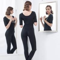 佩缇尚魅(PETAL_CHAUMET)经典意大利连体塑身衣长款黑色 64(M)