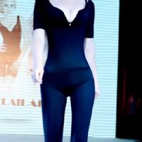 佩緹尚魅(PETAL_CHAUMET)私人定制能量體雕半袖長褲連體塑身衣黑色 XL