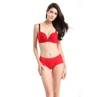 佩缇尚魅(PETAL_CHAUMET)水滴罩杯性感高弹内裤酒红色L