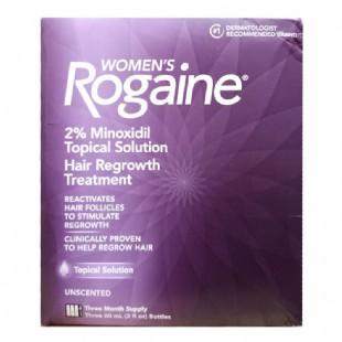 落健(Rogaine)女士防脱再生液60ml*3瓶【美国原装进口版】