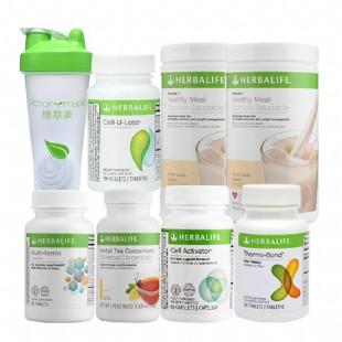 康宝莱(Herbalife)快速细腰瘦腿一个月减重套餐【原装进口版】