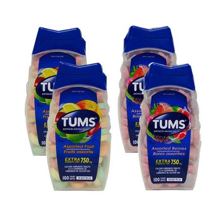 加拿大Tums(Tums)孕妈防胃酸补钙4件装(混合味)
