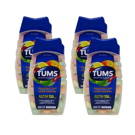 加拿大Tums(Tums)孕妈防胃酸补钙4件装(水果味)
