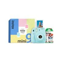 富士(instax)拍立得 一次成像相機2020升級版 mini9 精美禮盒 冰霜藍(含10張相紙)